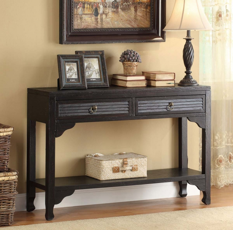 950259 Console Table - Rubbed Through Black