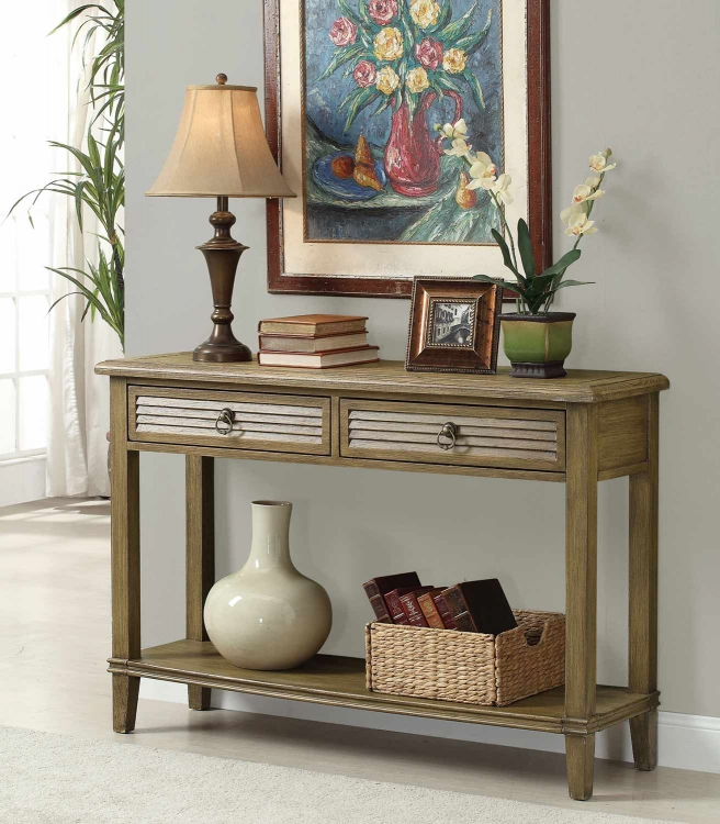 950261 Console Table - Antique Brown