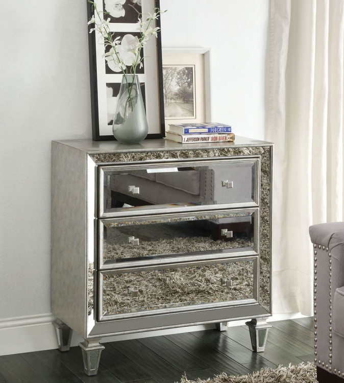 950262 Accent Cabinet - Antique Silver
