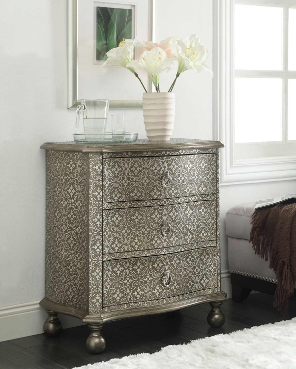 950263 Accent Cabinet - Antique Silver