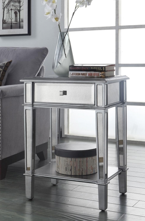950267 Accent Table - Antique Silver