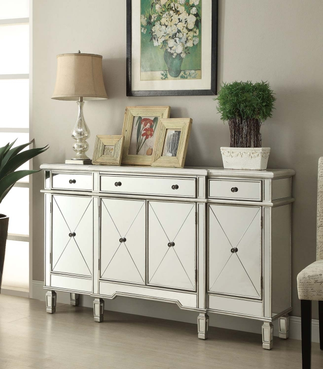 950275 Accent Cabinet - Antique Silver