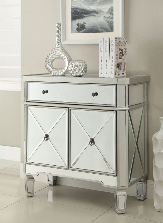 950278 Accent Cabinet - Antique Silver