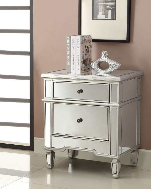 950291 Accent Cabinet - Antique Silver