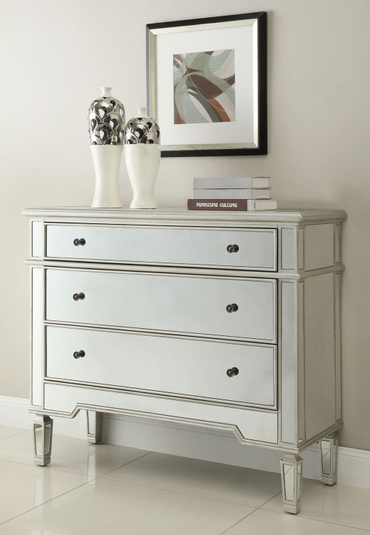 950293 Accent Cabinet - Antique Silver