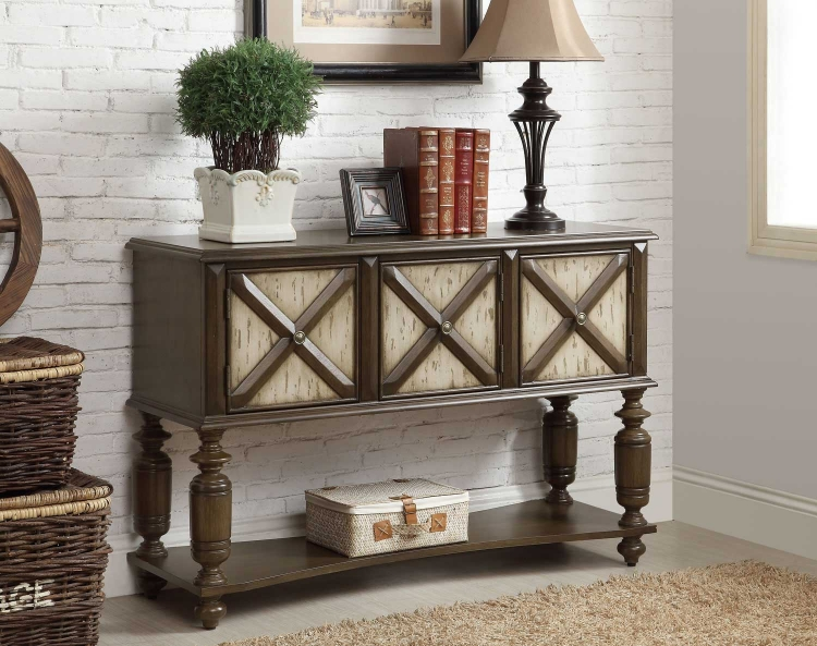 950294 Console Table - Two - Tone Brown