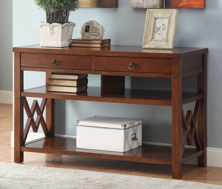 950304 Console Table - Brown Red
