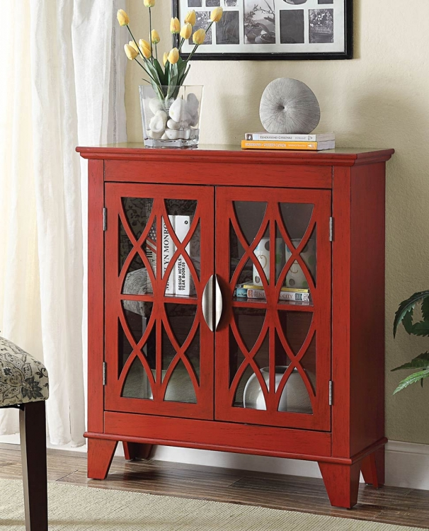 950312 Accent Cabinet - Red