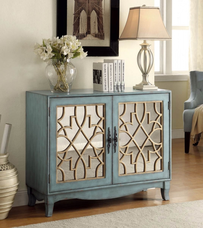 950319 Accent Cabinet - Antique Blue