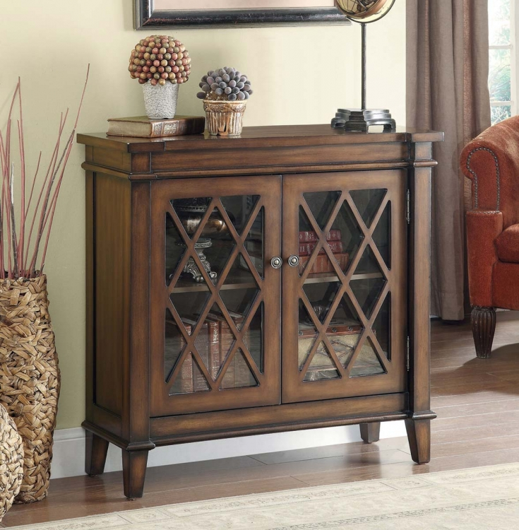 950348 Accent Cabinet - Warm Brown