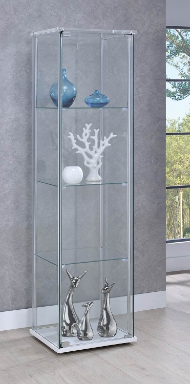 950629 Curio Cabinet - Clear/White