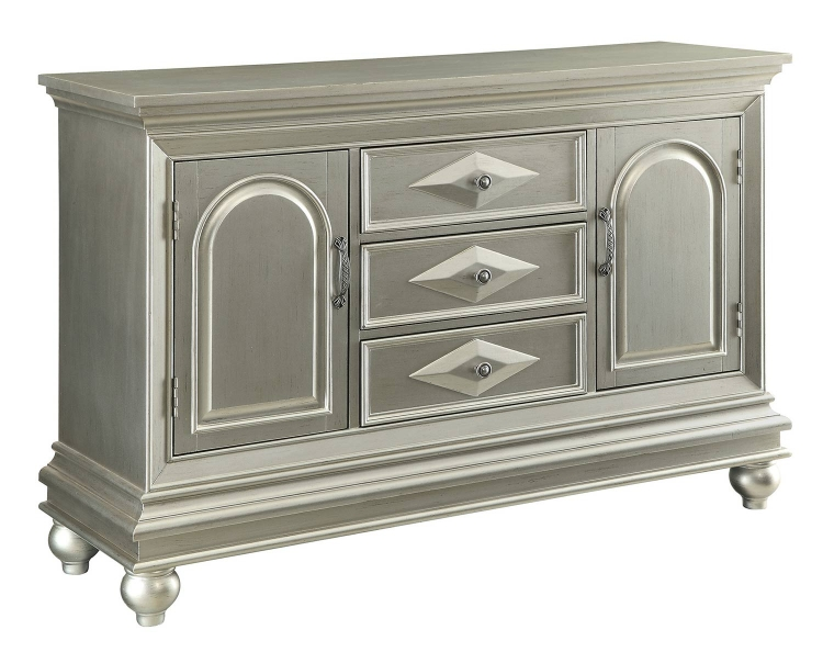 950633 Accent Cabinet - Silver