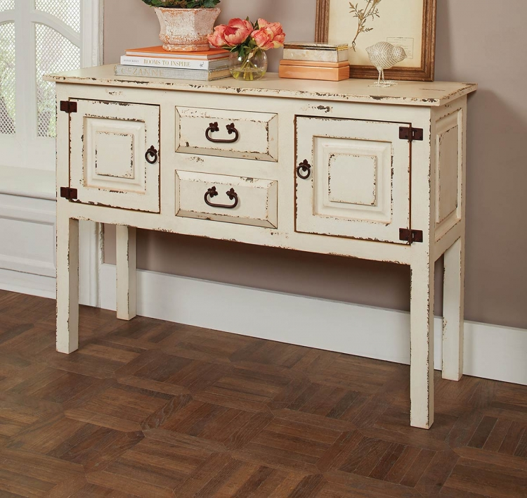 950660 Accent Cabinet - Rustic White