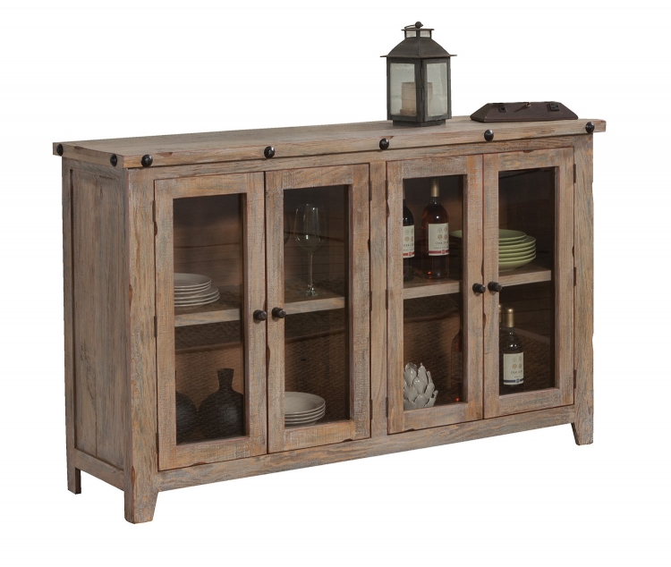 950663 Accent Cabinet - Natural Rustic