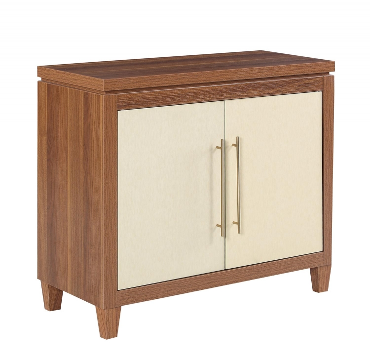 950705 Accent Cabinet - Walnut/Gold