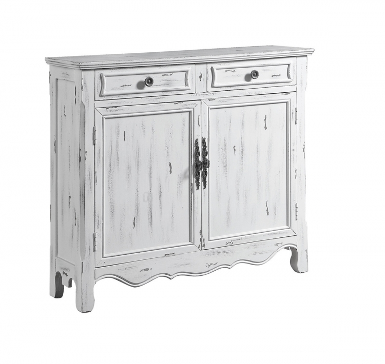 950737 Accent Cabinet - Distressed White