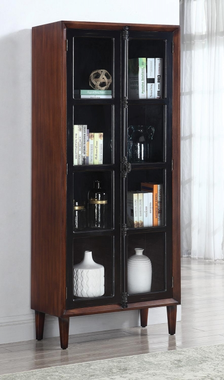 950781 Tall Cabinet - Rich Brown/Black