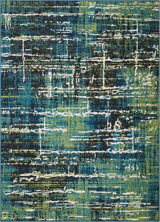 970217L Large Rug - Multi-Tonal Blue/Green