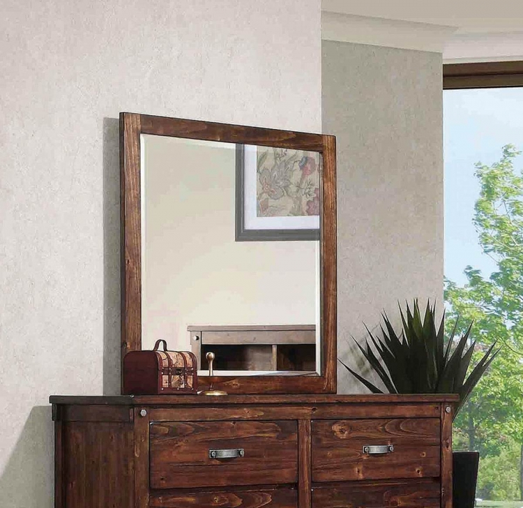 Coaster Noble Mirror - Rustic Oak
