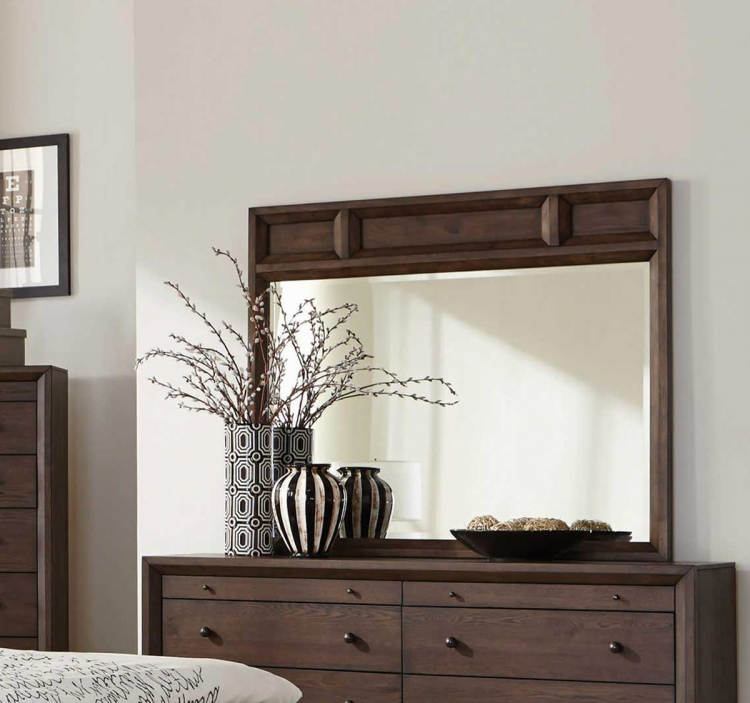 Bingham Mirror - Brown Oak