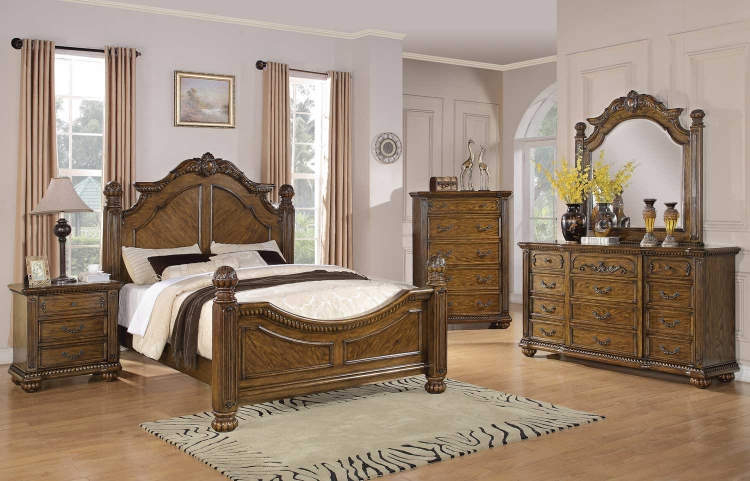 Bartole Bedroom Set - Oak - Coaster