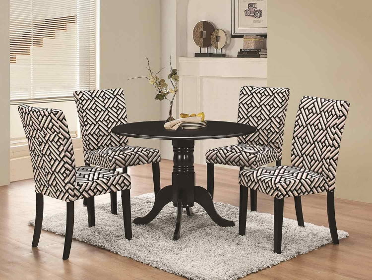 Dorsett Round Dining Set - Black