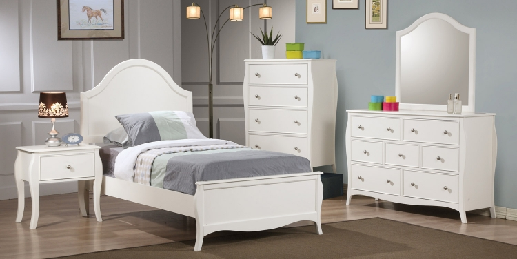 Dominique Bedroom Set - White