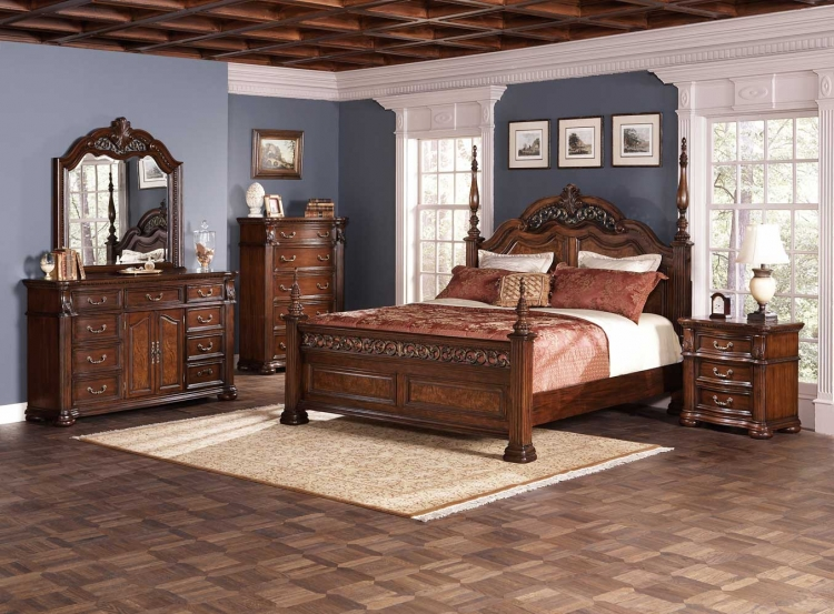 DuBarry Bedroom Set - Rich Brown - Coaster