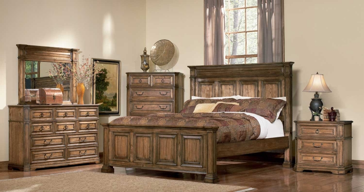 Edgewood Panel Bedroom Set - Brown Oak - Coaster