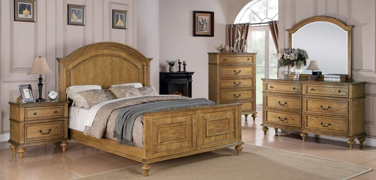 Emily Bedroom Set - Light Oak