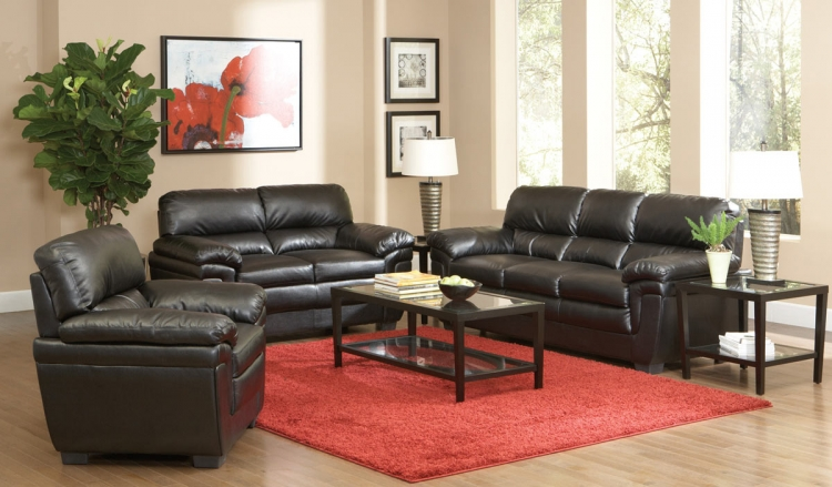 Fenmore Living Room Set - Dark Brown - Coaster