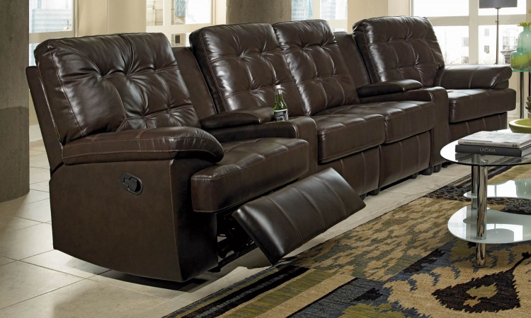 Grace Reclining Sectional Sofa Set - Chocolate