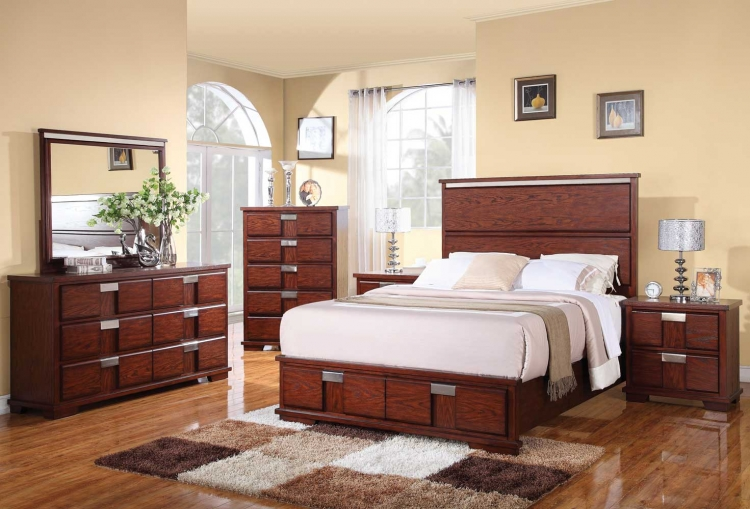 Hyland Bedroom Set - Dark Cherry