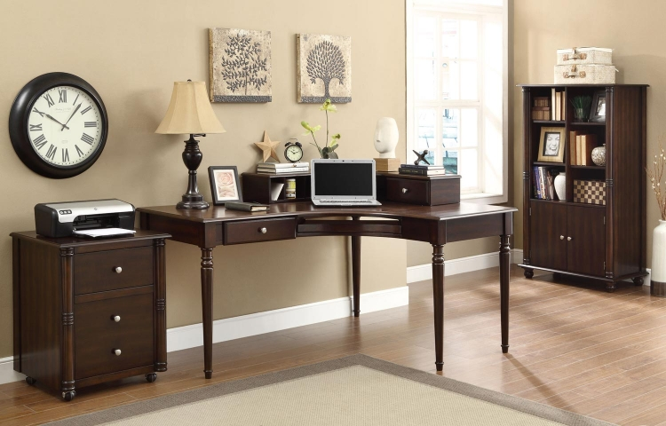 Jacqueline Home Office Set - Cappuccino