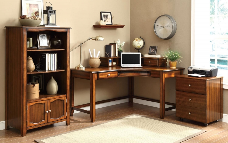 Jacqueline Home Office Set - Walnut