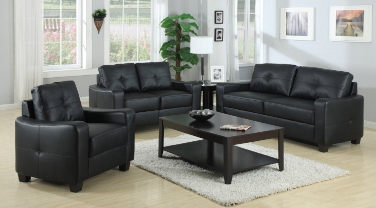 Jasmine Living Room Set - Black - Coaster