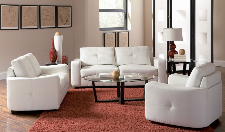 Jasmine Living Room Set - White - Coaster