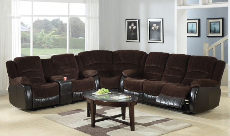 Johanna Sectional Sofa Set - Chocolate