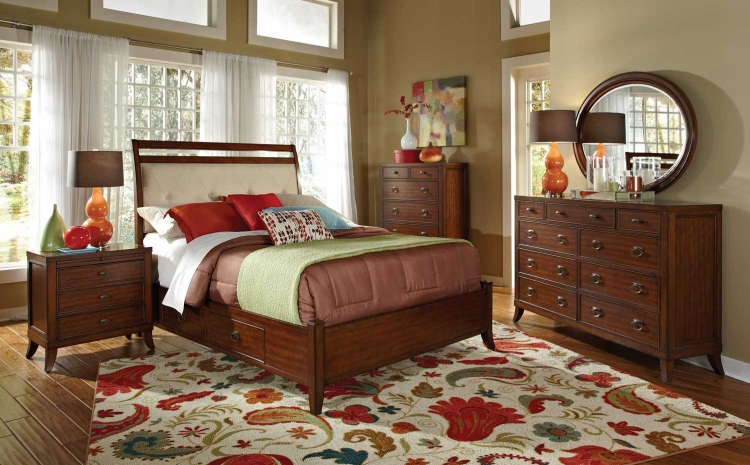 Ortiz Bedroom Set - Cherry - Coaster