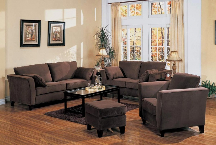 Park Place Sofa Set - Chocolate