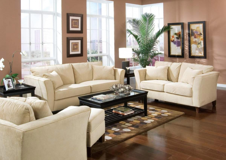 Park Place Sofa Set - Cream