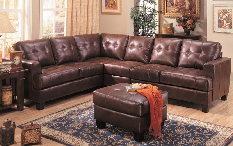 Samuel Sofa Sectional Set - Brown