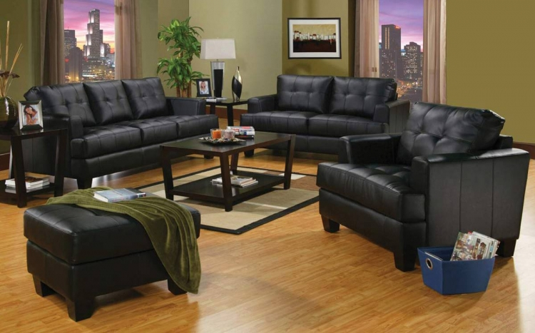 Samuel Sofa Set - Black - Coaster
