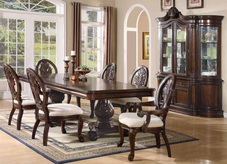 Tabitha Dark Pedestal Dining Collection