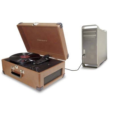 The Keepsake USB Turntable-Tan - Crosley