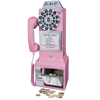 1950s Classic Pay Phone-Pink - Crosley