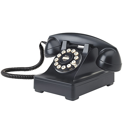 Crosley 302 Desk Phone-Black - Crosley
