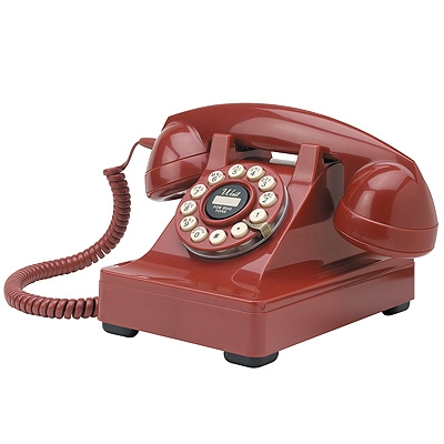 Crosley 302 Desk Phone-Red - Crosley