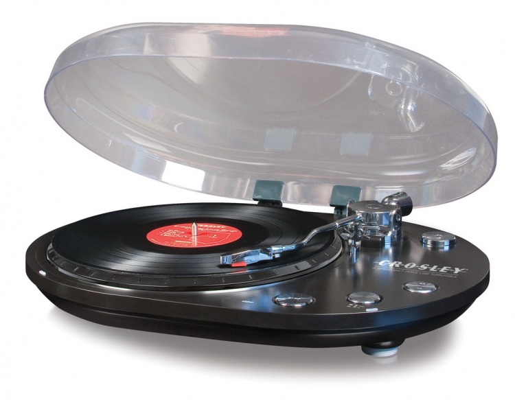 Oval USB Turntable - Black - Crosley