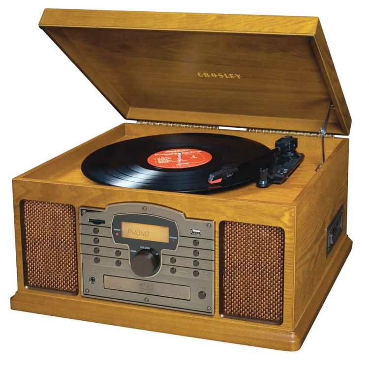 Troubadour Turntable - Oak - Crosley